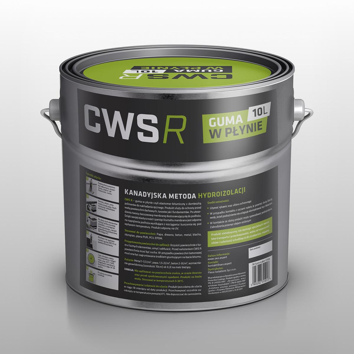 Guma w Płynie CWS R 10L na dach