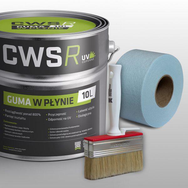 Zestaw naprawczy do dachu płaskiego - Guma w Płynie CWS R