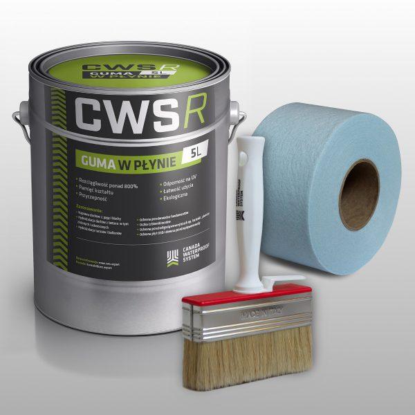 Zestaw naprawczy do dachu - Guma w Płynie CWS R